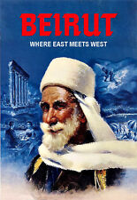 Art Ad Beirut where East meets West Travel Poster Print