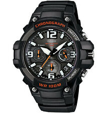 Casio Men's Chronograph Watch, 100 Meter WR, Black Resin, Date,   MCW100H-1AV