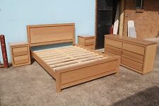 local made tasmanian oak hardwood timber bedroom suite with dressing table.