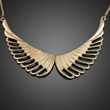 Korea Style Gold Plated Hollow out Angel Wings False Collar Necklace Choker