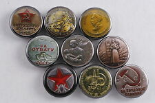 Magnet Lot Set of 9 Soviet Medal WW2 Labor Border Guard XX Nakhimov Life Fire