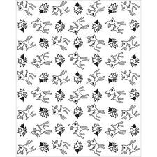 Basic Grey Hero Arts Mint Julep Tiny Deer Background Cling Stamps