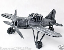 WWI BATTLE PLANE AIRPLANE FIGHTER VINTAGE MILITARY TIN TOY MODEL DECORATION HOT