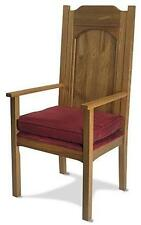 Solid Oak Wood Padded Presiders Chair w Arms Church Chapel Quality Seat from MRT