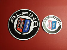 BMW`ALPINA` CARS  Embroidered Patch, NOW WITH FREE `ALPINA` PHONE STICKER
