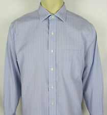 Mens Brooks Brothers Non Iron Stretch button front dress shirt – Size 16.5 – 33