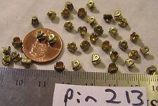 36 Vtg Brass Brooch Pin Mechanism solder closure Craft Repair Jewelry Findings
