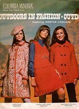 Columbia Minerva 769 Outdoors in Fashion Knitting Pattern Sweater Vest Cape 1968