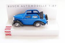 HO Busch BLUE 1935 FORD EIFEL Convertible Top-Down 1:87 scale Model Car