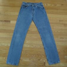 VINTAGE ORIGINAL LEVIS 501 DENIM JEANS MADE IN USA PRESHRUNK 1990's W32 L34