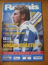 11/11/1998 Reading v Wigan Athletic  (Crease, Folded).