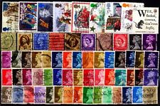 GREAT BRITAIN 100 All Different Used Large & Small Genuine Postage Stamps