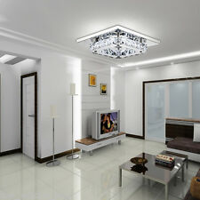 Elegant crystal Chandelier Modern Square Ceiling Light Lamp Pendant Fixture LED