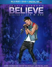 JUSTIN BIEBER'S - BELIEVE 2014 Blu Ray & dvd Combo MUSICAL Documentary USHER