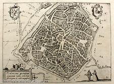 Valenciennes valencena valenchiene marrone e Hogenberg del 1580 Francia France
