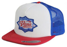 Vans Off The Wall Men's Brewed Beer Trucker Hat Cap - Red/White/Blue