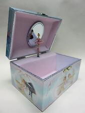wunderschönes Schmuckkästchen Schatulle mit Ballerina Spieluhr, Piano ,silbern