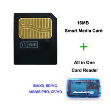 16MB SmartMedia Card 3v 16M Smart Media with CF XD MS DUO SD MMC SM Card Reader