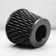 "3"" HI FLOW COLD SHORT RAM INTAKE AIR FILTER CARBON FIBER 2.5"" REDUCER WASHABLE"