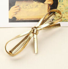 Fashion Women Girls Lether Bowknot Hairpin Hair Clips Hair PU Bow accessories