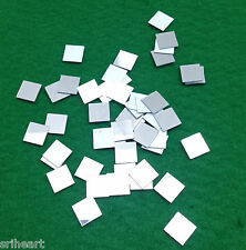 100 Mosaic 11mm Square Plastic Shisha Mirrors for Embroidery Quilting Craft -M10