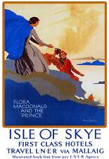 Isle of Skye viaje LNER Via vieiras Flora Macdonald & el príncipe Cartel De Tren