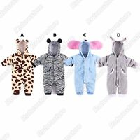 Cute Baby Animal Costumes - Boys Girls Kids Fleece Onesie Fancy Dress - New
