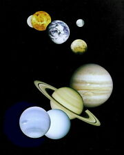 New 8x10 Space Photo: Montage images of Planets in our Solar System