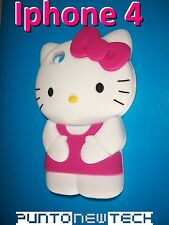 Cover CUSTODIA per IPHONE 4, 4S Silicone HELLO KITTY 3D/Silicon Case 3D