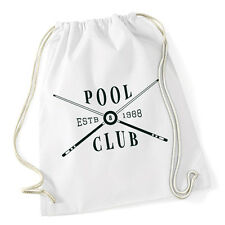 Pool Club Gymsack White Billard Schwarze 8 Queues Billardtisch 9 Ball One Pocket