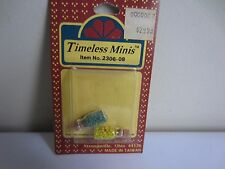 Vtg Pair of Timeless Minis Apothecary Candy Jars Cork Vials Dollhouse Miniatures