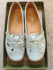 Hotter Ladies Size 5 Duck Egg Blue Loafer Style Shoes Excellent Condition