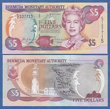 Bermuda 5 Dollars P 51 a 2000 UNC Low Shipping! Combine FREE!