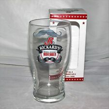 RICKARDS MOVEMBER BEER GLASS IN BOX MUSTACHE BREWERY CANADA 20 oz. BREWERIANA