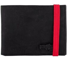 NEW UNIT RIDERS SPIKE WALLET BIFOLD BLACK LEATHER in BOX zip pocket for coins