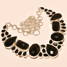 WONDERFUL BLACK ONYX GIFT FOR HER .925 SILVER JEWELRY NECKLACE 18""