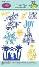 JUSTRITE CLEAR Rubber Stamps O HOLY NIGHT SW-04615 Jesus is the Reason Peace Joy