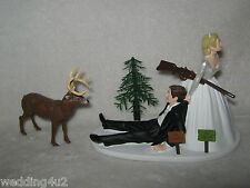 Wedding Party Reception ~No Hunting Sign~  Deer Hunter Hunting Cake Topper