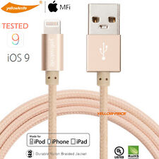 STRONG BRAIDED LIGHTNING Sync Data Cable USB Charger IOS9 For iPhone 6S iPad Air