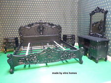 Gothique noir super king size french baroque louis style... top qualité rococo lit