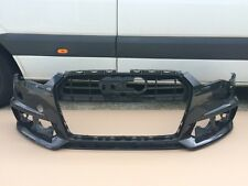 audi a6 s line 4g face lifting 2015-2016 front bumper in black genuine (z19)