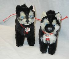 NWT Steiff Limited Yukon Quest Fulda Husky set with box from Germany LE 2000