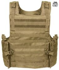 VOODOO TACTICAL ARMOR PLATE CARRIER VEST WITH MOLLE WEBBING 20-8399 / COYOTE