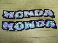 NOS Honda Motorcycle Gas Tank Side Cover Stickers Prism Chopper Bobber Cafe
