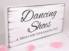Free Standing Vintage Wedding Table Sign Shabby but Chic Dancing Shoes