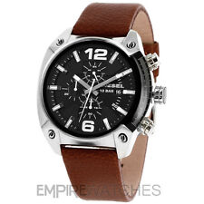 *NEW* DIESEL MENS OVERFLOW CHRONOGRAPH BROWN WATCH - DZ4296 - RRP £145.00
