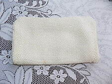 50s vintage pearl beaded clutch bag evening bag wedding prom evening wear