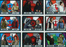 Star Wars Evolution 2016 Stained Glass Pairings Complete 9 Chase Card Set