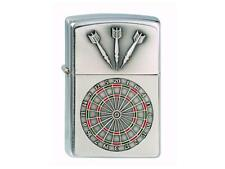 "ZIPPO ""DARTBOARD"" CHROME EMBLEM LIGHTER DART GAME / 1300091 ** NEW in BOX **"