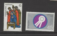 AUSTRALIA CHRISTMAS 1975 BOTH STAMPS MINT NEVER HINGED